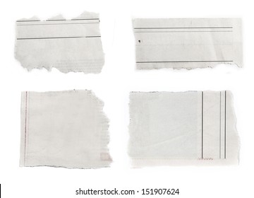 Pieces of torn paper on plain background. Copy space