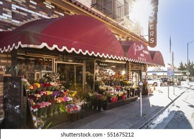 PIEDMONT, CA - Jan. 7, 2017: Long-standing florist specializing in distinct floral arrangements, balloon bouquets & gift baskets.