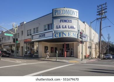 PIEDMONT USA - Jan. 7, 2017: Piedmont Historic Movie Theatre in Oakland
