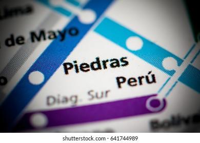 Piedras Station. Buenos Aires Metro map.