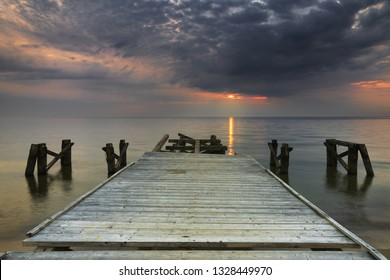 Pier at Baltic sea - Shutterstock ID 1328449970