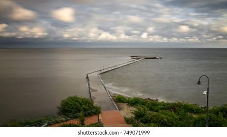 Pier in Baltic Sea