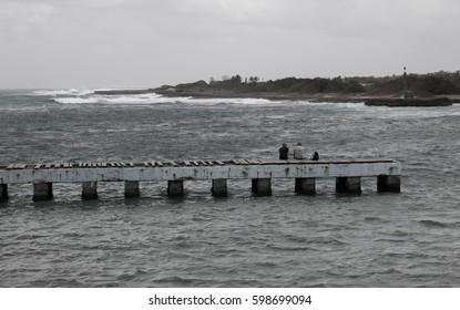 Pier in the bay of Cojimar, Cuba