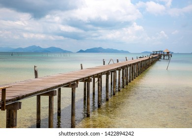 Pier beach at Ao Tan beach in Koh Mak island, Trat, Thailand