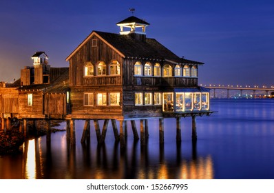 The Pier Cafe in Seaport Village San Diego, California.
