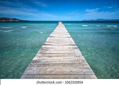 Pier with Caribean Feeling and Turquoise Sea