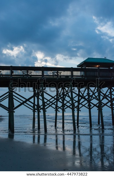 Pier in the early morning at Folly Beach.