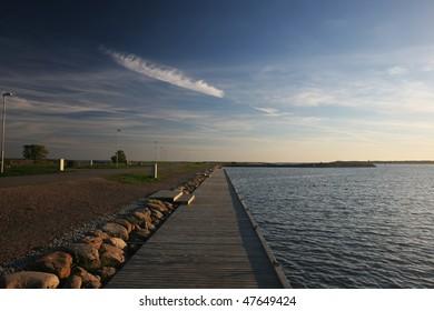 Pier at the evening (Kuressaare, Saaremaa island, Estonia)