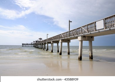 Pier in Fort Myers, Gulf of Mexico Coast, Florida USA