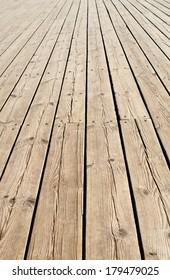 pier. fragment of wooden sidewalk.