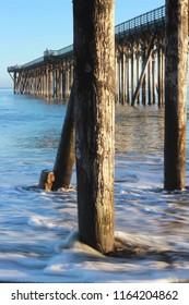 Pier in Hearst San Simeon State Park, near Hearst Castle on highway 1, San Simeon, California, USA