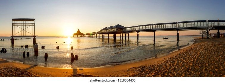 Pier, Heringsdorf at Island Usedom, Germany