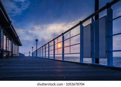 Pier Heringsdorf in the sunrise, Baltic Sea, Usedom Island_001
