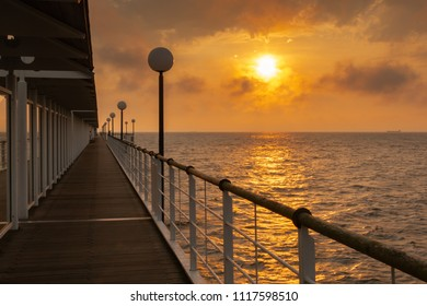 Pier Heringsdorf in the sunrise, Baltic Sea, Usedom Island