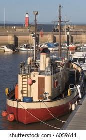 pier jetty harbour lighthouse watchet somerset england uk