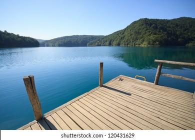 pier in the lake - Plitvice National Park