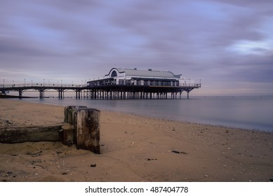 The Pier. Landscape shot of the Pier on a beach, early in the morning