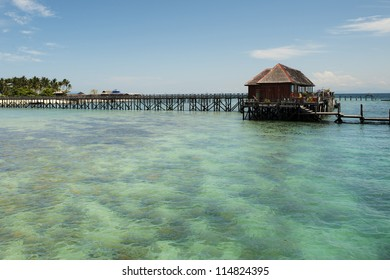 Pier at the Mabul Island