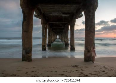 The pier in Manhattan Beach, California.