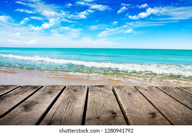 pier in the mediterranean sea
