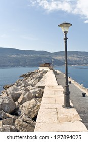 Pier in Mediterranean town Herceg Novi - Montenegro