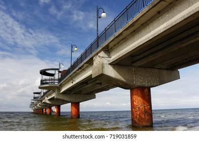 Pier in Miedzyzdroje, Poland