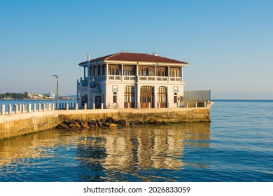 The pier in the Moda district of Kadikoy on Istanbul's Asian shore - Shutterstock ID 2026833059