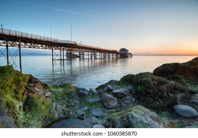 The pier at The Mumbles near Swansea on the south coast of Wales