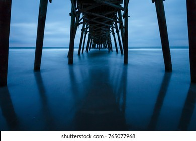 A pier in myrtle beach during the blue hour