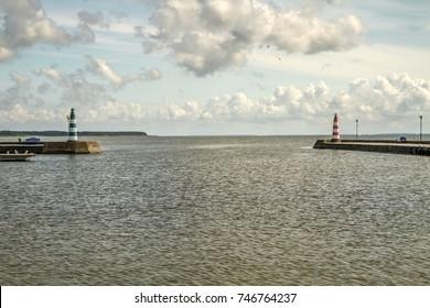 Pier in the  Nida