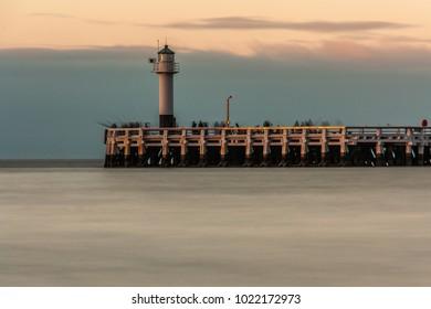pier of Nieuwpoort (Belgium)