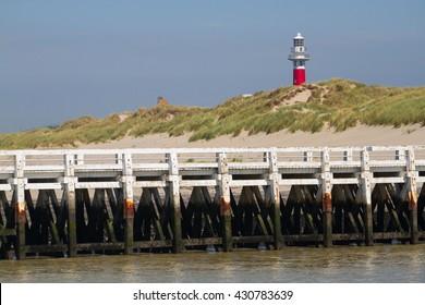Pier in Nieuwpoort, Belgium