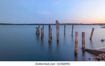 pier on the Baltic Sea island of Aland, Finland