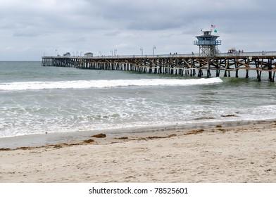 Pier on the beach in San Clemente, California