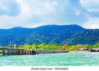 pier on Koh Lanta Island, Krabi, Thailand