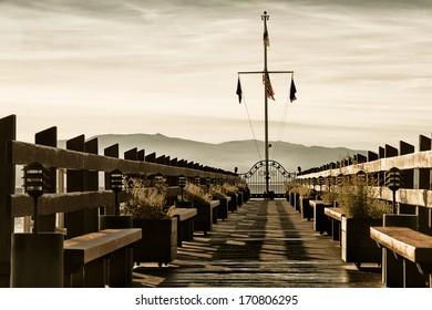 Pier on a lake, Carnelian Bay, Lake Tahoe, California, USA