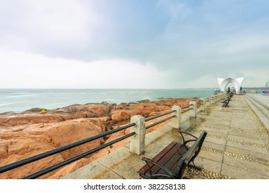 Pier in Qingdao coast