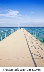 Pier in the sea