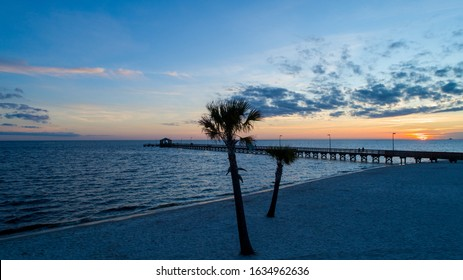Pier at sunset in Biloxi, Mississippi