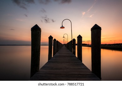 Pier Sunset in the Rehoboth Bay