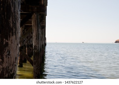 Pier support foundation and water