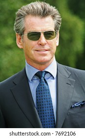 Pierce Brosnan at the Cartier International Polo Day at the Guards Polo Club in Windsor- 29 July 2007