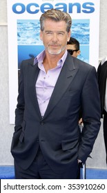 """Pierce Brosnan at the Los Angeles Premiere of """"Oceans"""" held at the El Capitan Theater in Hollywood, California, United States on April 17, 2010."""