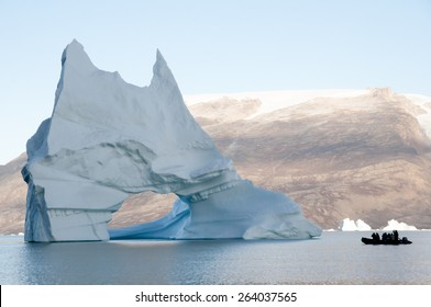 Pierced Iceberg - Scoresby Sound - Greenland