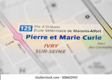 Pierre et Marie Curie. 7th Line. Paris. France
