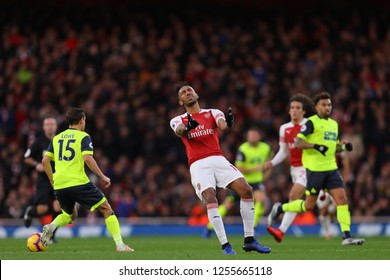Pierre-Emerick Aubameyang of Arsenal shows his frustration after a pass fails to find him - Arsenal v Huddersfield Town, Premier League, Emirates Stadium, London (Holloway) - 8th December 2018
