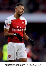 Pierre-Emerick Aubameyang of Arsenal - Arsenal v Huddersfield Town, Premier League, Emirates Stadium, London (Holloway) - 8th December 2018