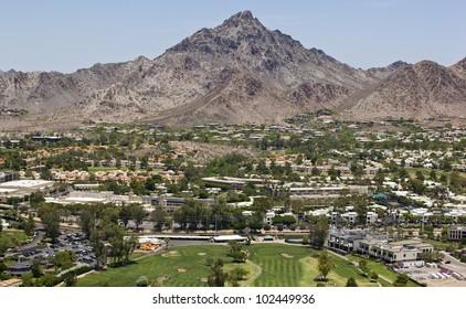 Piestewa Peak a popular hiking and recreation area in Phoenix, Arizona