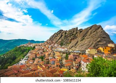 Pietrapertosa village in Apennines Dolomiti Lucane. Basilicata, Italy.