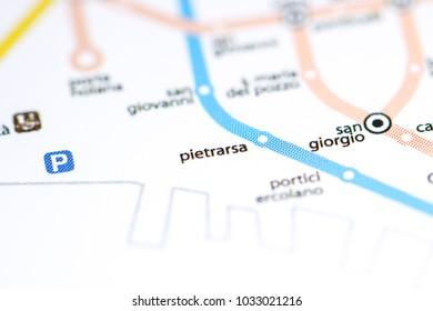 Pietrarsa Station. Naples Metro map.